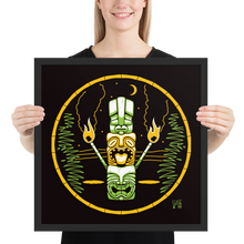 Load image into Gallery viewer, Tiki Stack Framed poster