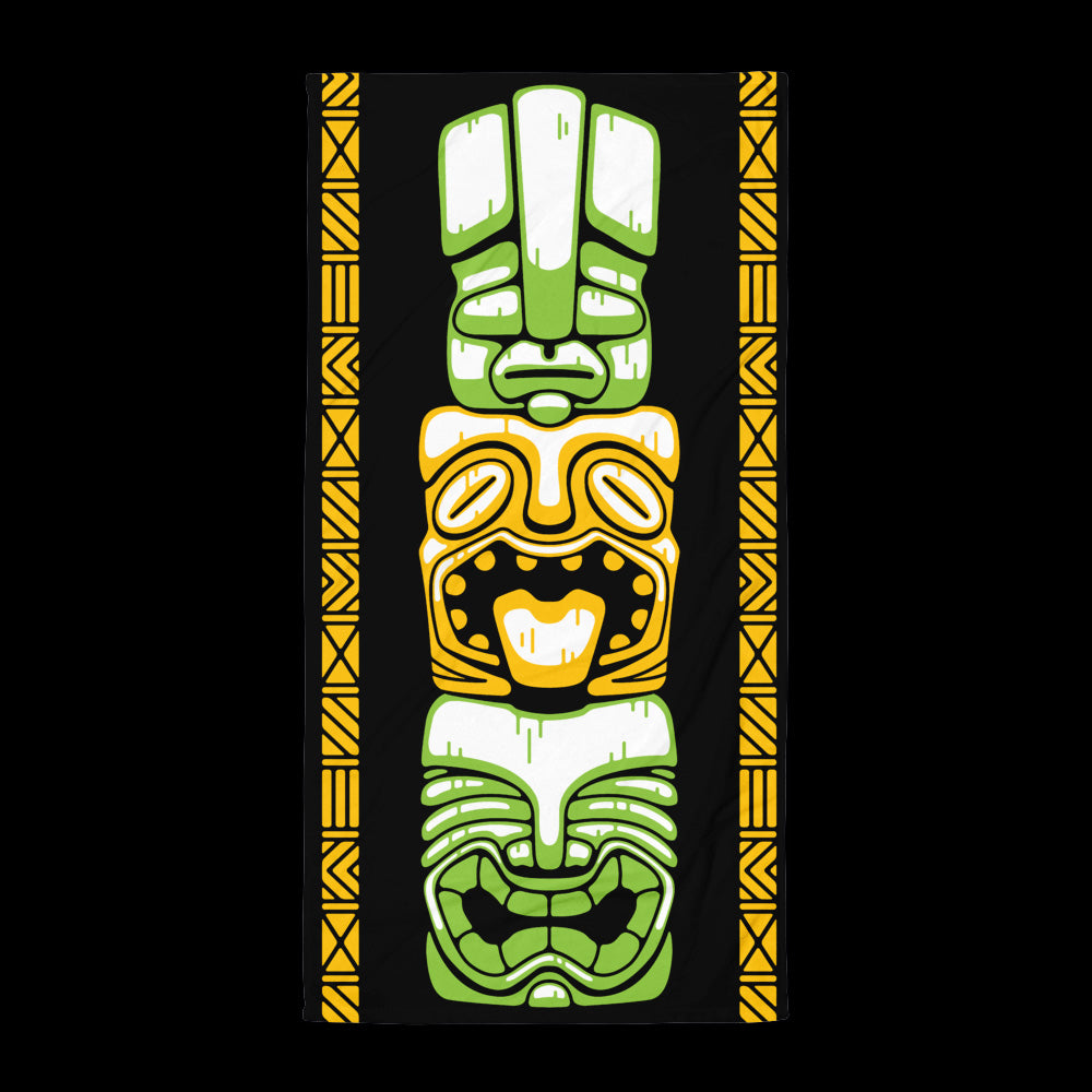 Tiki Stack Beach Towel