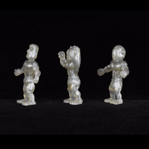 Tiki Melee T.I.K.I. figures One Off, Set of 3, Silver Surfer