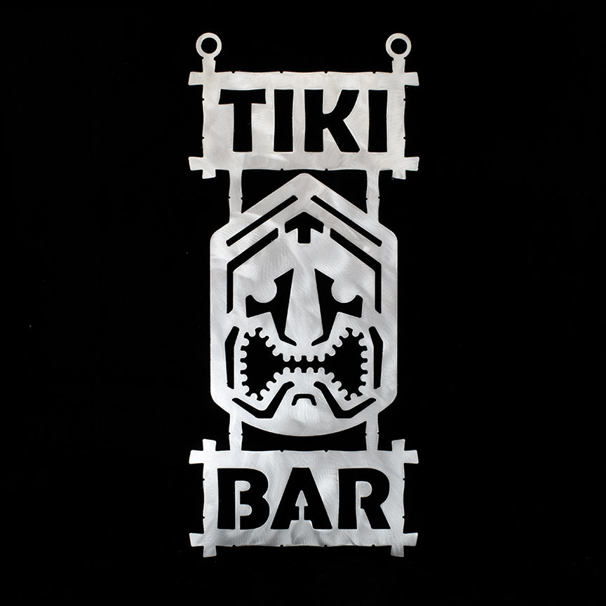 Metal Tiki Bar Sign 1