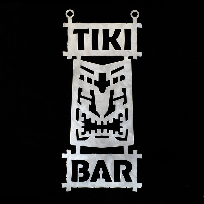 Metal Tiki Bar Sign 2