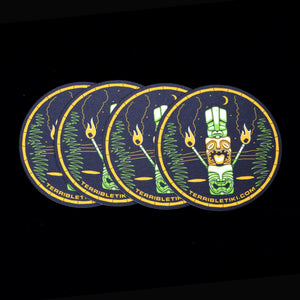 Tiki Stack Coasters, Set of 4