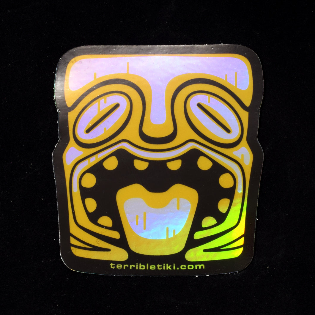 Holographic Tiki Head Sticker