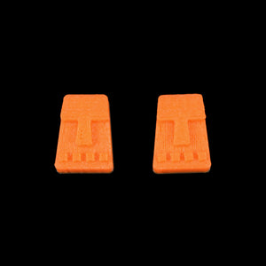 Tiny Tiki Face Earring, Orange