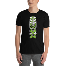 Load image into Gallery viewer, Green Toothy Tiki Black Tee