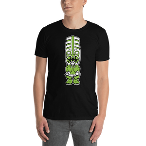 Green Toothy Tiki Black Tee
