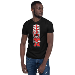 Red Toothy Tiki Black Tee