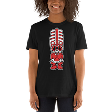 Load image into Gallery viewer, Red Toothy Tiki Black Tee