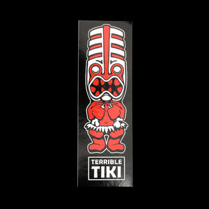Red Toothy Tiki Sticker