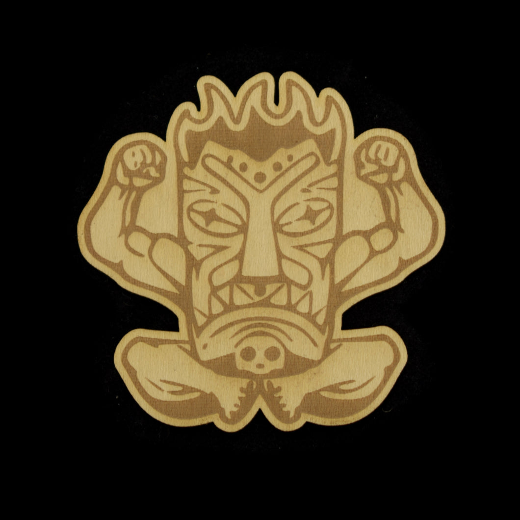 Wooden Terrible Tiki Sticker