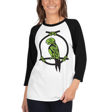 Load image into Gallery viewer, Enchanted Parrot Skeleton 3/4 Tee