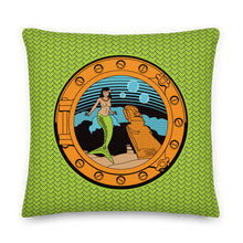 Load image into Gallery viewer, Lime Mermaid Pillow