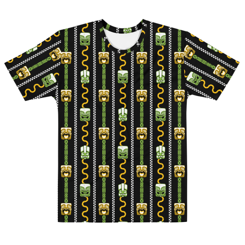 Green and Orange Tiki All-Over-Print T-shirt
