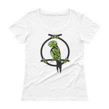 Load image into Gallery viewer, Zombie Parrot Ladies' Scoopneck T-Shirt, Pink or White