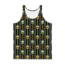 Load image into Gallery viewer, Green and Orange Tiki Men's Tank Top