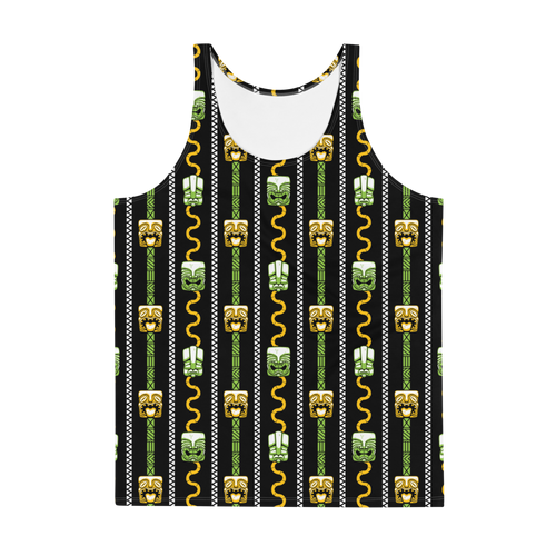 Green and Orange Tiki Men's Tank Top