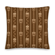 Load image into Gallery viewer, Brown Tiki Head Pillow