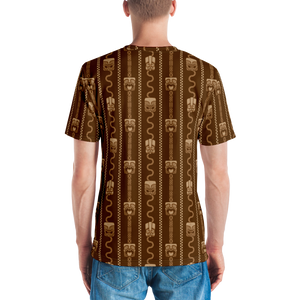 Brown Tiki All-Over-Print T-shirt