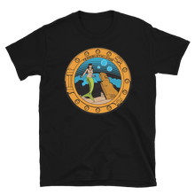Load image into Gallery viewer, Porthole Mermaid Black Tee