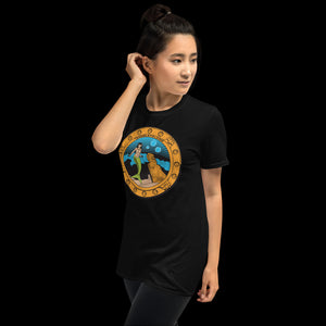 Porthole Mermaid Black Tee