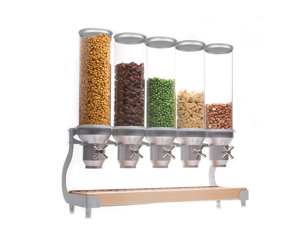 ACD50 Cereal Dispenser_Silver Free Standing_BREAKFAST BUFFET_IDM Dispenser