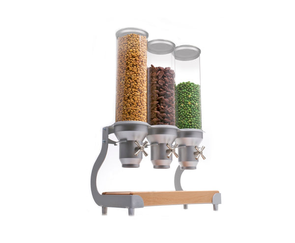 ACD30 Cereal Dispenser_Silver Free Standing_BREAKFAST BUFFET_IDM Dispenser