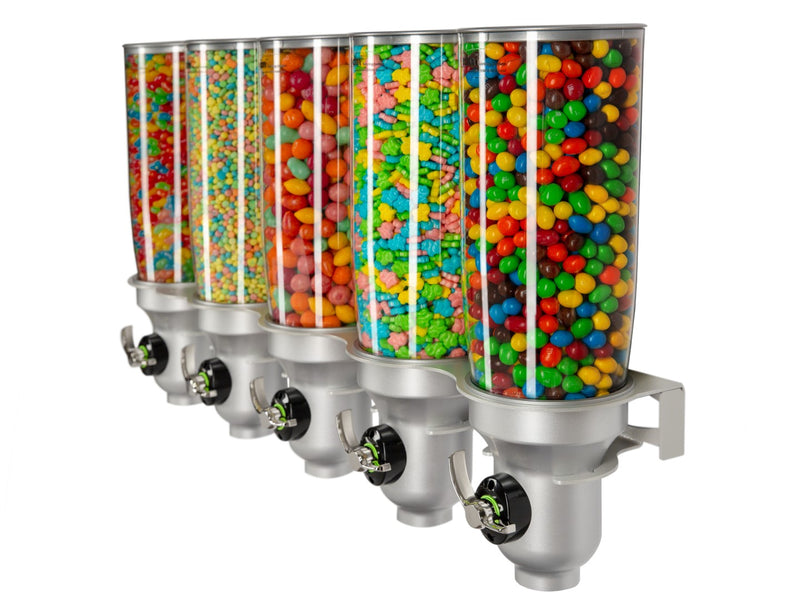 DH50-FF Candy Dispenser_Wall Mounted_Silver_IDM Dispenser