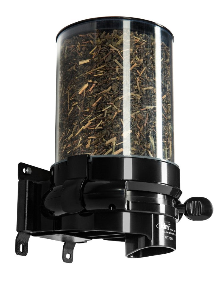 HMPC1-1.5L_Single Wall Mounted Loose Tea Dispenser_Black_IDM Dispenser