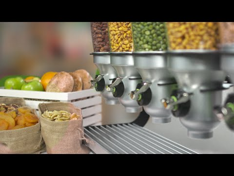 D40C-BL-FF Organic & Dry Food Dispenser