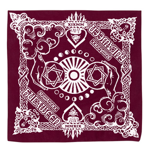 Hula Crown Royale Bandana - Blue / Wine