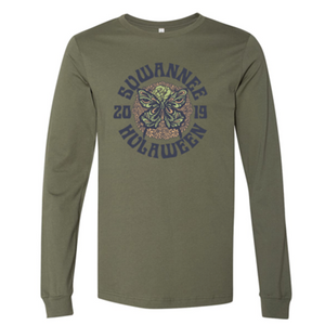 Hula Butterfly Long Sleeve Tee - Military Green