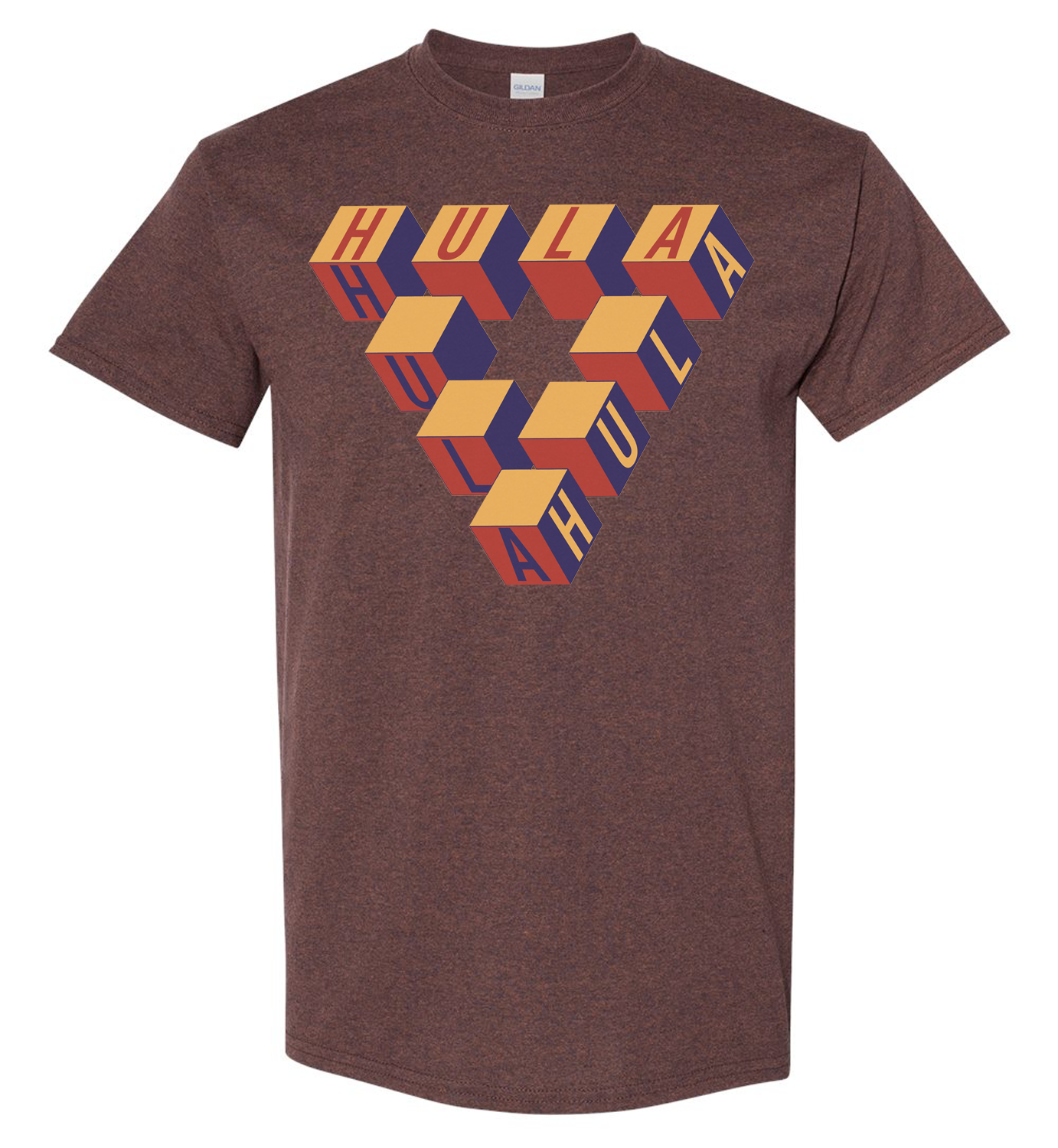 Hula Triangle Short Sleeve Tee - Mens Russet
