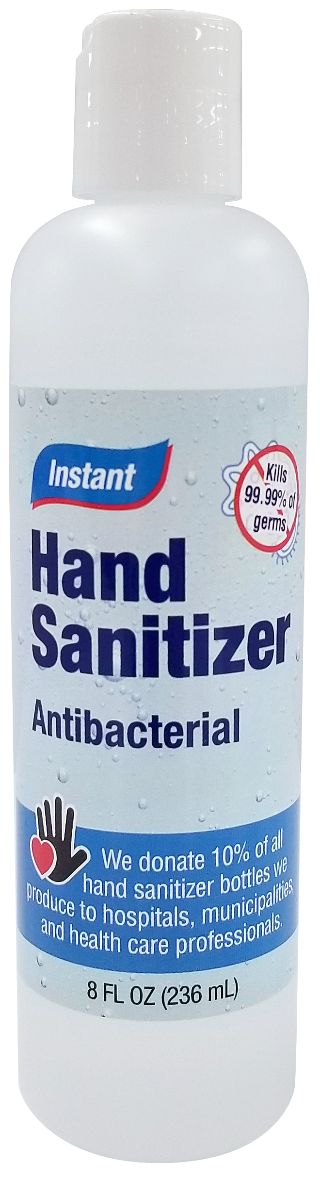 Antibacterial Hand Sanitizer - 80% Alcohol Concentration Single Bottles