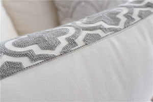 Euro Style Embroidered Pillow Cover