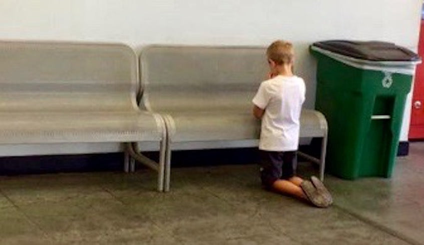 Mom And Son Go To Walmart, But When She Loses Track Of Him, She Finds Him Kneeling For A Heartbreaking Reason…
