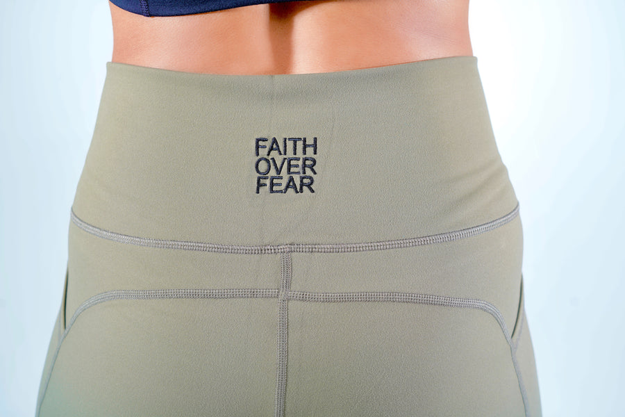 "Women's ""Faith Over Fear"" Scripture Biker Shorts"