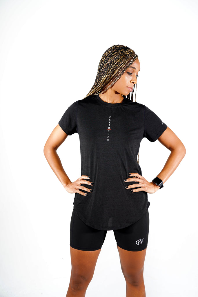 Women's Faith Over Fear Vertical Performance Shirt