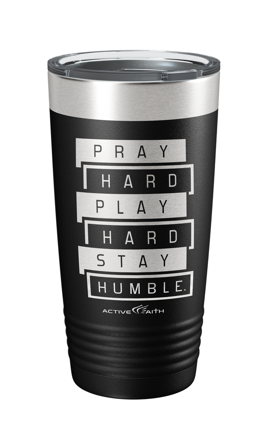 Pray Hard Play Hard Stay Humble Tumbler