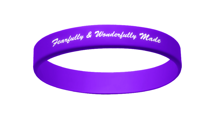 Active Faith FWM Band Purple/White