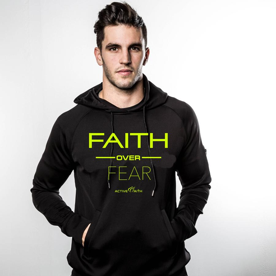 Faith Over Fear Performance Hoodie