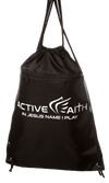 Active Faith Drawstring Bag