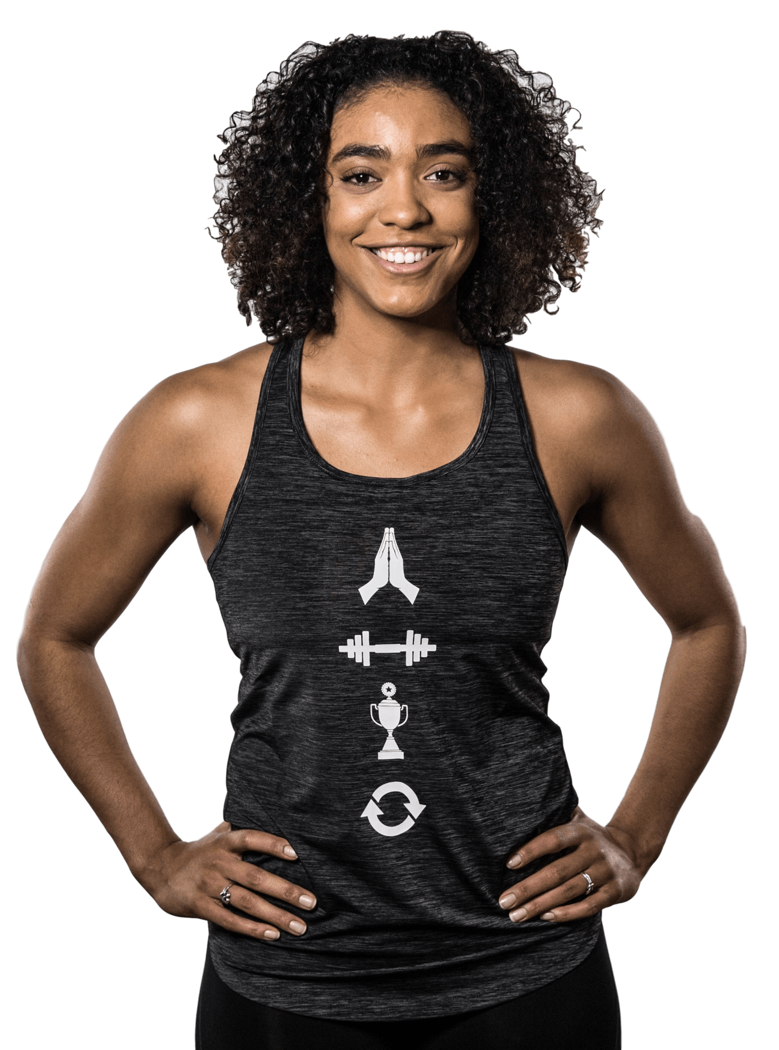 "Women's ""Pray Repeat"" Symbol Tank"