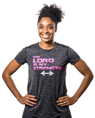 Christian T-Shirt for Women, Grey - Active Faith Sports