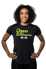 Black Christian T-Shirt for Women - Christian Sports Wear - Active Faith