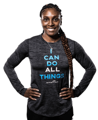 Women's I Can Longsleeve Performance Shirt