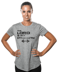 Women's Lord Is My Strength Performance Shirt