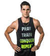 "Men's ""Pray Repeat"" Word Tank"