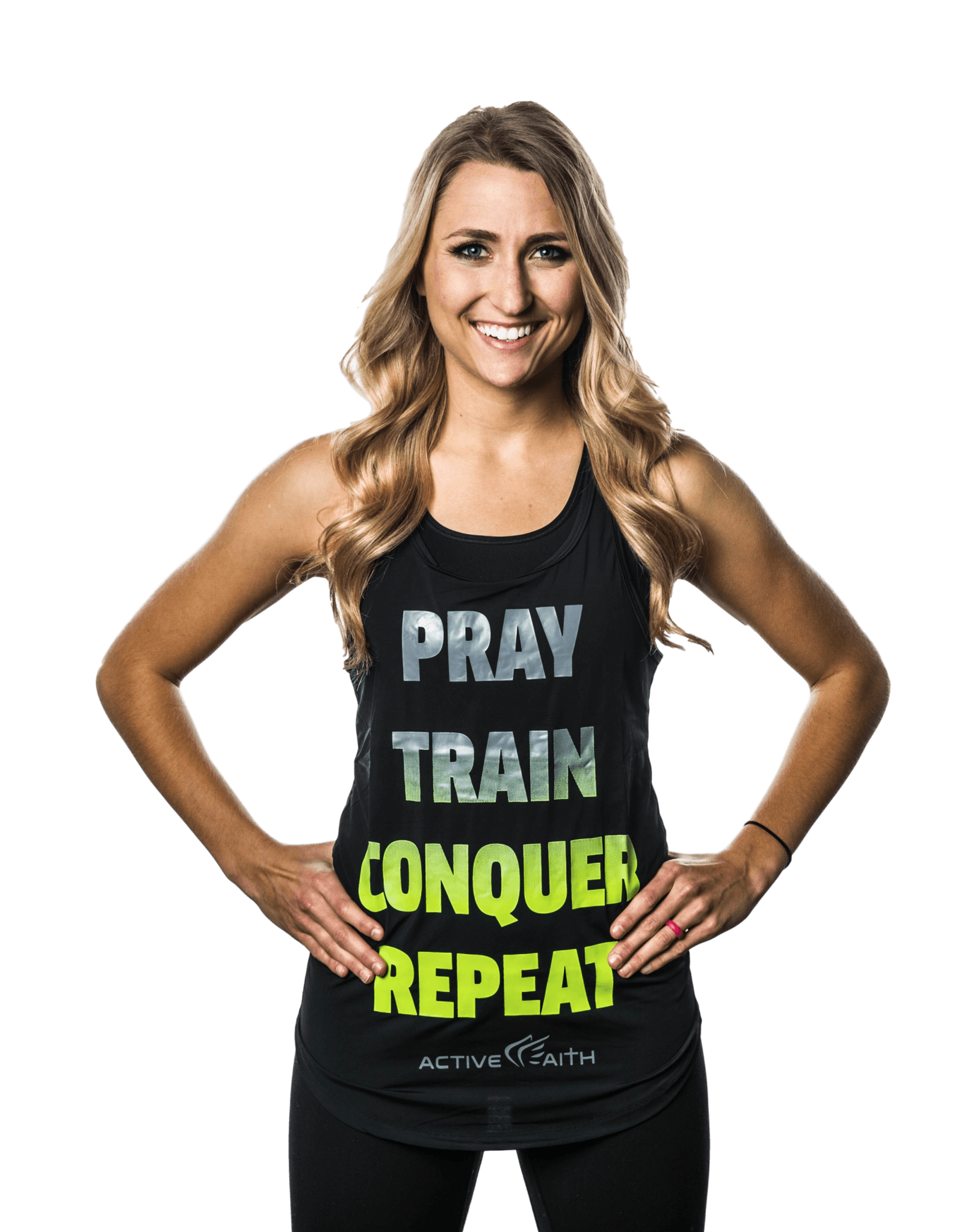 "Women's ""Pray Repeat"" Word Tank"
