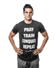 "Men's ""Pray Repeat"" Word Shirt"