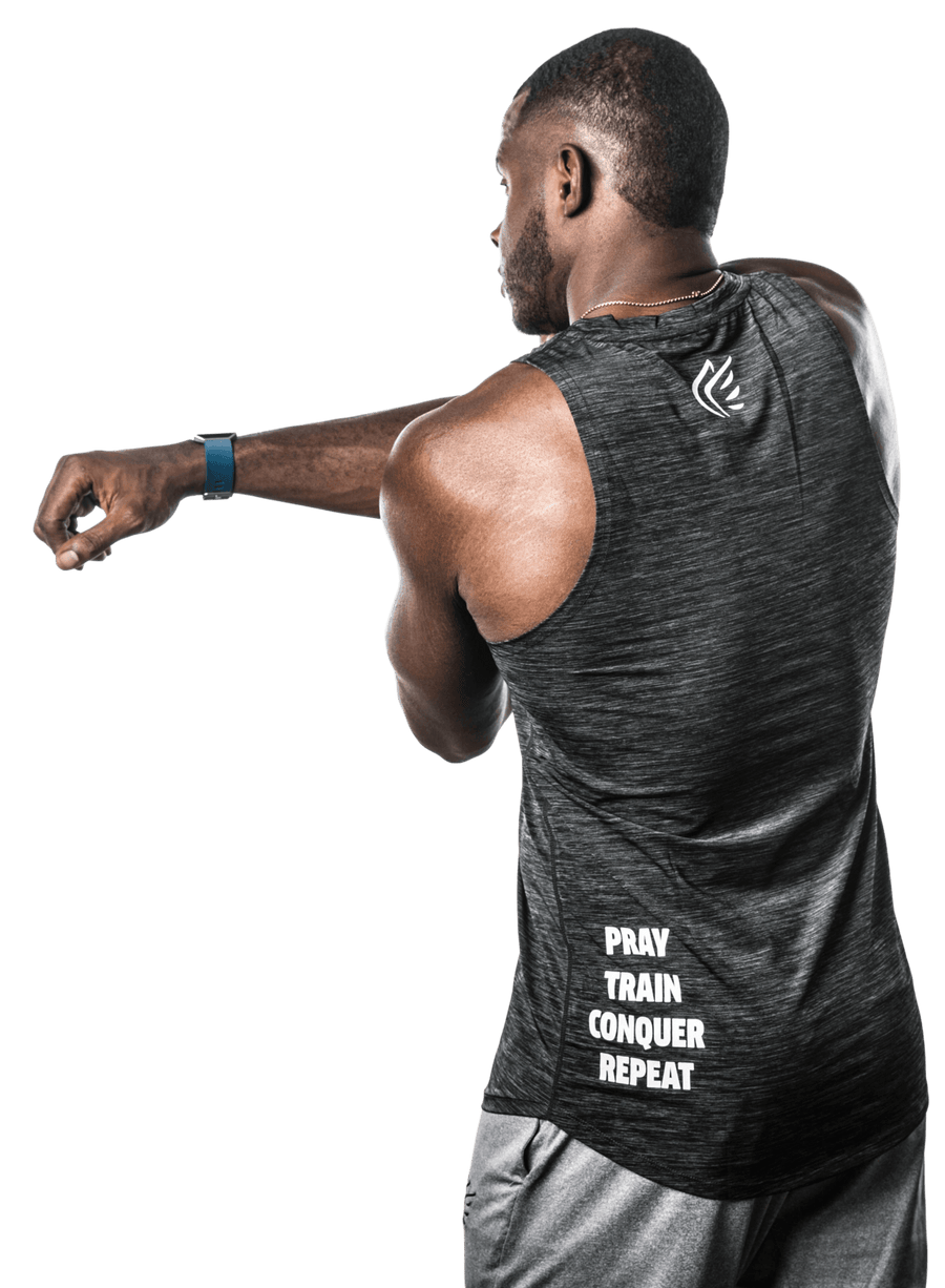 "Men's ""Pray Repeat"" Symbol Tank"